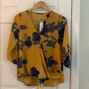 New West Kei Allan Rolltab High Low Blouse, S